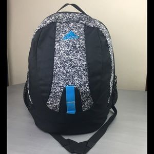 Adidas black & white Speckled backpack